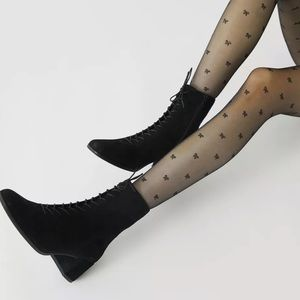 Urban Outfitters Bow Sheer Tights